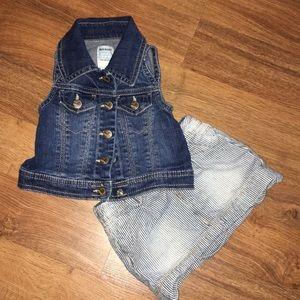 Girls Old Navy Vest & Arizona Bundle size 12-18mth